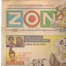 Coleccionismo de Revistas y Periódicos: ZONA DISNEY. ABC. Nº 53. OPERACIÓN TRIUNFO EN UN DISCO. 23 FEBRERO 2003. (B/58). Lote 268971509