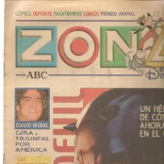 Coleccionismo de Revistas y Periódicos: ZONA DISNEY. ABC. Nº 54. DAVID BISBAL / DAREDEVIL. 2 MARZO 2003. (B/58). Lote 268971779