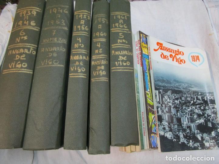 33 NUMEROS CORRELATIVOS ' ANUARIO DE VIGO ' 1939 Nº 1 A 1974 INC, 26 ENCUADERNADOS + INFO (Coleccionismo - Revistas y Periódicos Modernos (a partir de 1.940) - Otros)