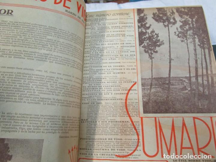 Coleccionismo de Revistas y Periódicos: 33 NUMEROS CORRELATIVOS ANUARIO DE VIGO 1939 Nº 1 A 1974 INC, 26 ENCUADERNADOS + INFO - Foto 7 - 268975884