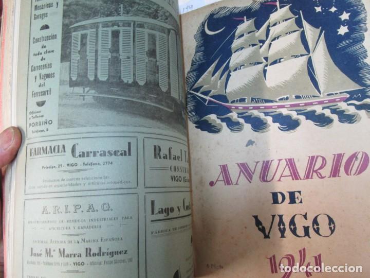 Coleccionismo de Revistas y Periódicos: 33 NUMEROS CORRELATIVOS ANUARIO DE VIGO 1939 Nº 1 A 1974 INC, 26 ENCUADERNADOS + INFO - Foto 8 - 268975884
