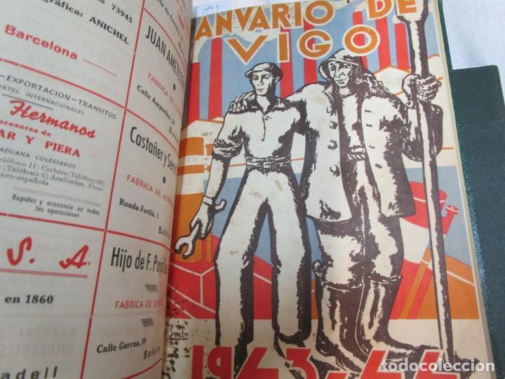 Coleccionismo de Revistas y Periódicos: 33 NUMEROS CORRELATIVOS ANUARIO DE VIGO 1939 Nº 1 A 1974 INC, 26 ENCUADERNADOS + INFO - Foto 10 - 268975884