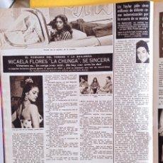 Coleccionismo de Revistas y Periódicos: MICAELA FLORES LA CHUNGA ELIZABETH TAYLOR 1958. Lote 268975889