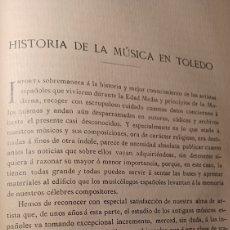 Coleccionismo de Revistas y Periódicos: HISTORIA DE LA MÚSICA EN TOLEDO. L. SERRANO. AÑO 1907.. Lote 269001814