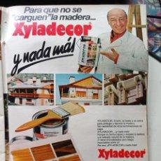 Coleccionismo de Revistas y Periódicos: ANUNCIO XYLADECOR RAUL SENDER. Lote 269015104