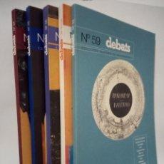 Coleccionismo de Revistas y Periódicos: DEBATS N°S 54, 55, 56, 57_58,59.. Lote 269015454