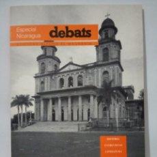 Coleccionismo de Revistas y Periódicos: DEBATS. ESPECIAL NICARAGUA. Lote 269015474