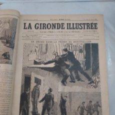 Coleccionismo de Revistas y Periódicos: 49490 - LA GIRONDE ILLUSTRE - REVISTAS ENCUADERNADAS DEL Nº 56 AL 105 - AÑO 1892 - EN FRANCES. Lote 269033359