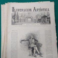 Coleccionismo de Revistas y Periódicos: ILUSTRACION ARTISTICA. AÑO I. DESDE EL Nº 1 (1º DE ENERO DE 1882) AL Nº 52 (24 DICIEMBRE 1882). Lote 269054378