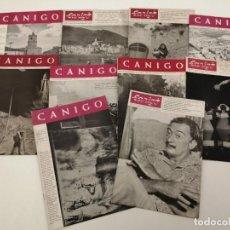 Coleccionismo de Revistas y Periódicos: LOTE 10 REVISTAS CANIGO, CON ALGUNAS PORTADAS Y REFERENCIAS A SALVADOR DALÍ, AÑOS 60. Lote 269111058