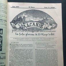 Collectionnisme de Revues et Journaux: ALCAÑIZ / AÑO 1909 / REVISTA CONMEMORATIVA DEL 23-5-1809 /GUERRA INDEPENDENCIA / 24 PAGINAS / TERUEL. Lote 269183983
