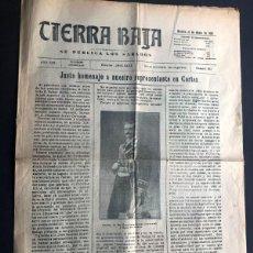 Coleccionismo de Revistas y Periódicos: TIERRA BAJA / ALCAÑIZ AÑO 1923 / PERIÓDICO SEMANAL / 6 PÁGINAS / TERUEL. Lote 269186168