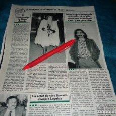 Coleccionismo de Revistas y Periódicos: RECORTE : EL SUPERABRIGO DE ROCIO JURADO. JUAN MIGUEL RESPONDE A KARINA. SEMANA, FBRO 1991(#). Lote 269215298