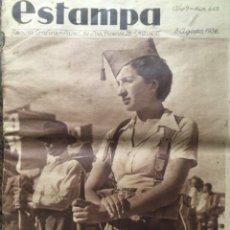 Collectionnisme de Revues et Journaux: ESTAMPA 1936 GUERRA CIVIL MADRID VALENCIA BARCELONA LA MOTORIZADA BATALLON DE ACERO VER FOTOS. Lote 269352298