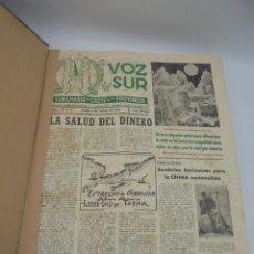 Coleccionismo de Revistas y Periódicos: LA VOZ DEL SUR. SEMANARIO DE CADIZ Y SU PROVINCIA. AÑO I. Nº24 HASTA EL Nº49. JULIO HASTA DIC. 1949.. Lote 269382278