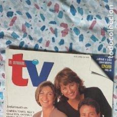 Coleccionismo de Revistas y Periódicos: EL SEMANAL TV-JUNIO1995-PAGINAS 42-285X210MM-MATIAS PRATS-OLGA VIZA-CARMEN TOMAS-RAMONCIN. Lote 269498273
