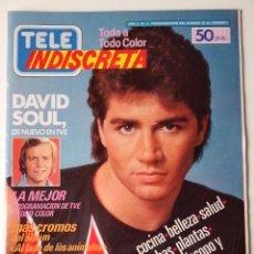 """Coleccionismo de Revistas y Periódicos: REVISTA TELE INDISCRETA Nº 2 DAVID SOUL COUSTEAU POSTER DE """"V"""". Lote 269747003"""