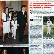 Coleccionismo de Revistas y Periódicos: SCANS ALASKA EN LA COMUNION DE RAPHAEL NATALIA FIGUEROA ENCARNA SANCHEZ MILA XIMENEZ. Lote 269981453