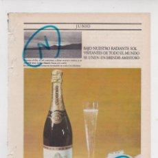 Coleccionismo de Revistas y Periódicos: PUBLICIDAD T 1969. ANUNCIO CODORNIU. Lote 269981808