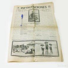 Coleccionismo de Revistas y Periódicos: PERIODICO INFORMACIONES AÑO 1, Nº 178. AGOSTO DE 1922. MADRID. Lote 270184698