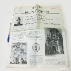 Coleccionismo de Revistas y Periódicos: GACETA DEL MUSEO MUNICIPAL . DICIEMBRE DE 1981 Nº 2. Lote 270184768