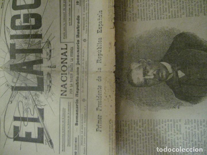 Coleccionismo de Revistas y Periódicos: periodico el latigo nacional . nº 16 año 1894 semanario republicano . presidentes republica - Foto 2 - 270394688