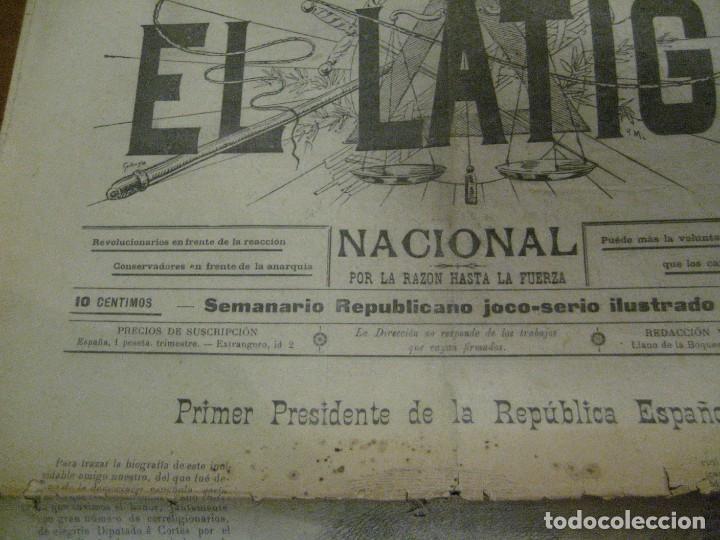 Coleccionismo de Revistas y Periódicos: periodico el latigo nacional . nº 16 año 1894 semanario republicano . presidentes republica - Foto 3 - 270394688