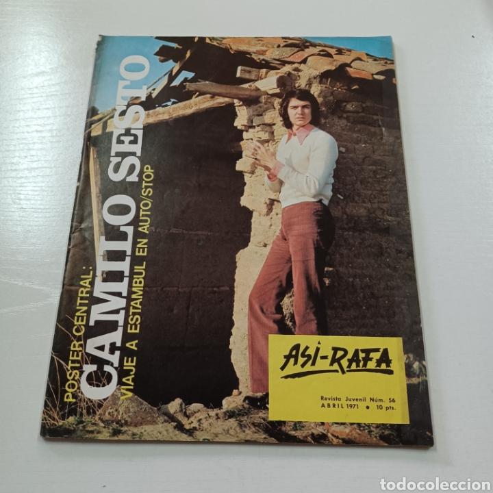 PORTADA Y POSTER CENTRAL CAMILO SESTO - ASI-RAFA REVISTA JUVENIL N° 56 ABRIL 1971 (Coleccionismo - Revistas y Periódicos Modernos (a partir de 1.940) - Otros)