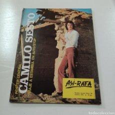 Coleccionismo de Revistas y Periódicos: PORTADA Y POSTER CENTRAL CAMILO SESTO - ASI-RAFA REVISTA JUVENIL N° 56 ABRIL 1971. Lote 270535043