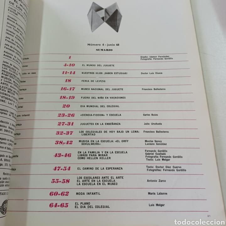 Coleccionismo de Revistas y Periódicos: EL JUGUETE EN EL MUNDO DE LOS NIÑOS N° 6 JUNIO 1968 - Foto 7 - 270541048