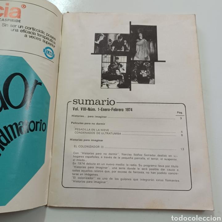 Coleccionismo de Revistas y Periódicos: HISTORIAS PARA NO DORMIR - NARCOSO IBAÑEZ SERRADOR VOL. VIII N° 1 ENERO FEBRERO 1974 - Foto 2 - 270543398