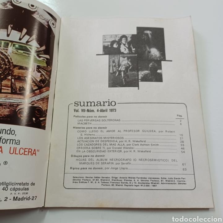 Coleccionismo de Revistas y Periódicos: HISTORIAS PARA NO DORMIR - NARCISO IBAÑEZ SERRADOR VOL. VII N° 4 ABRIL 1973 - Foto 2 - 270545578