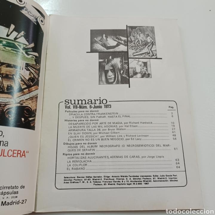 Coleccionismo de Revistas y Periódicos: HISTORIAS PARA NO DORMIR- NARCISO IBAÑEZ SERRADOR VOL. VII N° 6 JUNIO 1973 - Foto 2 - 270546723
