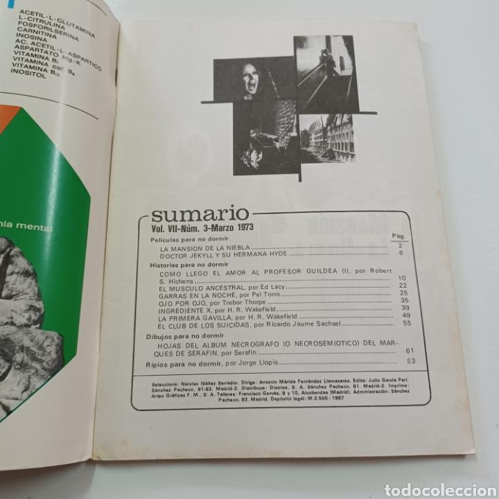 Coleccionismo de Revistas y Periódicos: HISTORIAS PARA NO DORMIR - NARCISO IBAÑEZ SERRADOR VOL. VII N° 3 MARZO 1973 - Foto 2 - 270547048