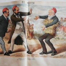 Coleccionismo de Revistas y Periódicos: EL MOTÍN - PERIÓDICO SATÍRICO SEMANAL. Nº 14 - 8 ABRIL 1883. Lote 270579853