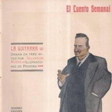 Coleccionismo de Revistas y Periódicos: LA GUITARRA - SALVADOR RUEDA - EL CUENTO SEMANAL Nº5 1907. Lote 270580098
