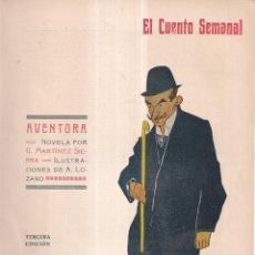 Coleccionismo de Revistas y Periódicos: AVENTURA - G. MARTINEZ SIERRA - EL CUENTO SEMANAL Nº3 1907. Lote 270580188