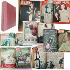 Coleccionismo de Revistas y Periódicos: SEMANA. 36 NÚMEROS DE 1946 / 1950. Lote 270591663