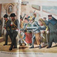 Coleccionismo de Revistas y Periódicos: EL MOTÍN - PERIÓDICO SATÍRICO SEMANAL. Nº 15 - 15 ABRIL 1883. Lote 270647533
