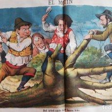 Coleccionismo de Revistas y Periódicos: EL MOTÍN - PERIÓDICO SATÍRICO SEMANAL. Nº 16 - 22 ABRIL 1883. Lote 270647603