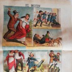Coleccionismo de Revistas y Periódicos: EL MOTÍN - PERIÓDICO SATÍRICO SEMANAL. Nº 19 - 13 MAYO 1883. Lote 270647793