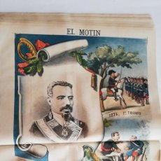 Coleccionismo de Revistas y Periódicos: EL MOTÍN - PERIÓDICO SATÍRICO SEMANAL. Nº 22 - 3 JUNIO 1883. Lote 270648038