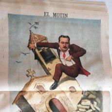 Coleccionismo de Revistas y Periódicos: EL MOTÍN - PERIÓDICO SATÍRICO SEMANAL. Nº 23 - 10 JUNIO 1883. Lote 270648208