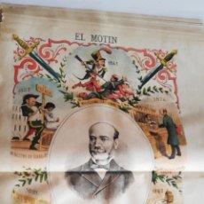 Coleccionismo de Revistas y Periódicos: EL MOTÍN - PERIÓDICO SATÍRICO SEMANAL. Nº 25 - 24 JUNIO 1883. Lote 270648303