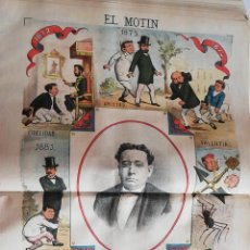 Coleccionismo de Revistas y Periódicos: EL MOTÍN - PERIÓDICO SATÍRICO SEMANAL. Nº 26 - 1 JULIO 1883. Lote 270648338