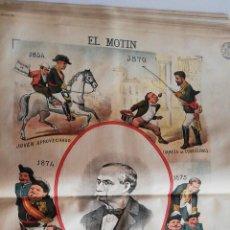 Coleccionismo de Revistas y Periódicos: EL MOTÍN - PERIÓDICO SATÍRICO SEMANAL. Nº 28 - 15 JULIO 1883. Lote 270648468