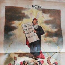 Coleccionismo de Revistas y Periódicos: EL MOTÍN - PERIÓDICO SATÍRICO SEMANAL. Nº 30 - 29 JULIO 1883. Lote 270648733