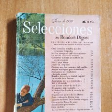 Coleccionismo de Revistas y Periódicos: REVISTA SELECCIONES DEL READERS DIGEST JUNIO 1959. Lote 270899848