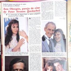 Coleccionismo de Revistas y Periódicos: ANA GARCIA OBREGON PETER STRAUSS IAN SERRA PETER CUSHING. Lote 270905608