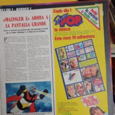 Coleccionismo de Revistas y Periódicos: MAZINGER Z SUPER POP MIGUEL BOSE BEE GEES DAVID SOUL MILIKI. Lote 270906963
